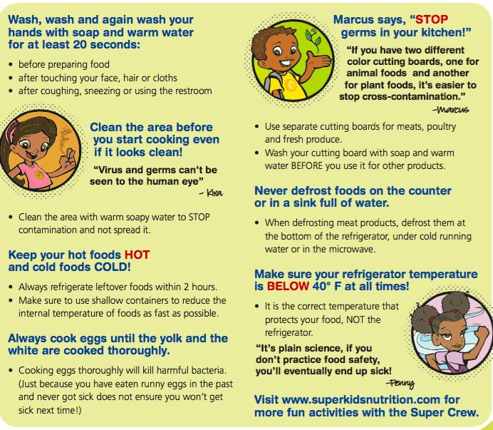 Simple Rules For A Healthy Life Share And Spread The: Cooking With The Children